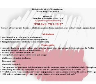 Biblioteka Publiczna zaprasza na konkurs plastyczny: zaprojektuj pocztówkę o Polsce