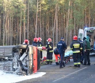 Wypadek kierowcy z Sulmierzyc pod Gądkowicami [ZDJĘCIA]