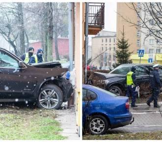 Kierowca BMW potrącił dwie osoby na ul. Żabiej