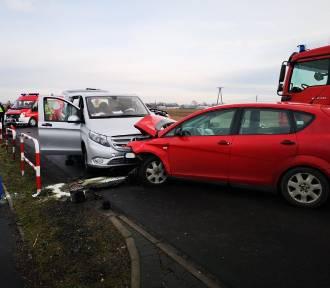 Wypadek na trasie Opalenica - Grodzisk Wielkopolski [ZDJĘCIA]