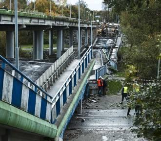 Zawalił się wiadukt w Alei Monte Cassino w Koszalinie [zdjęcia]
