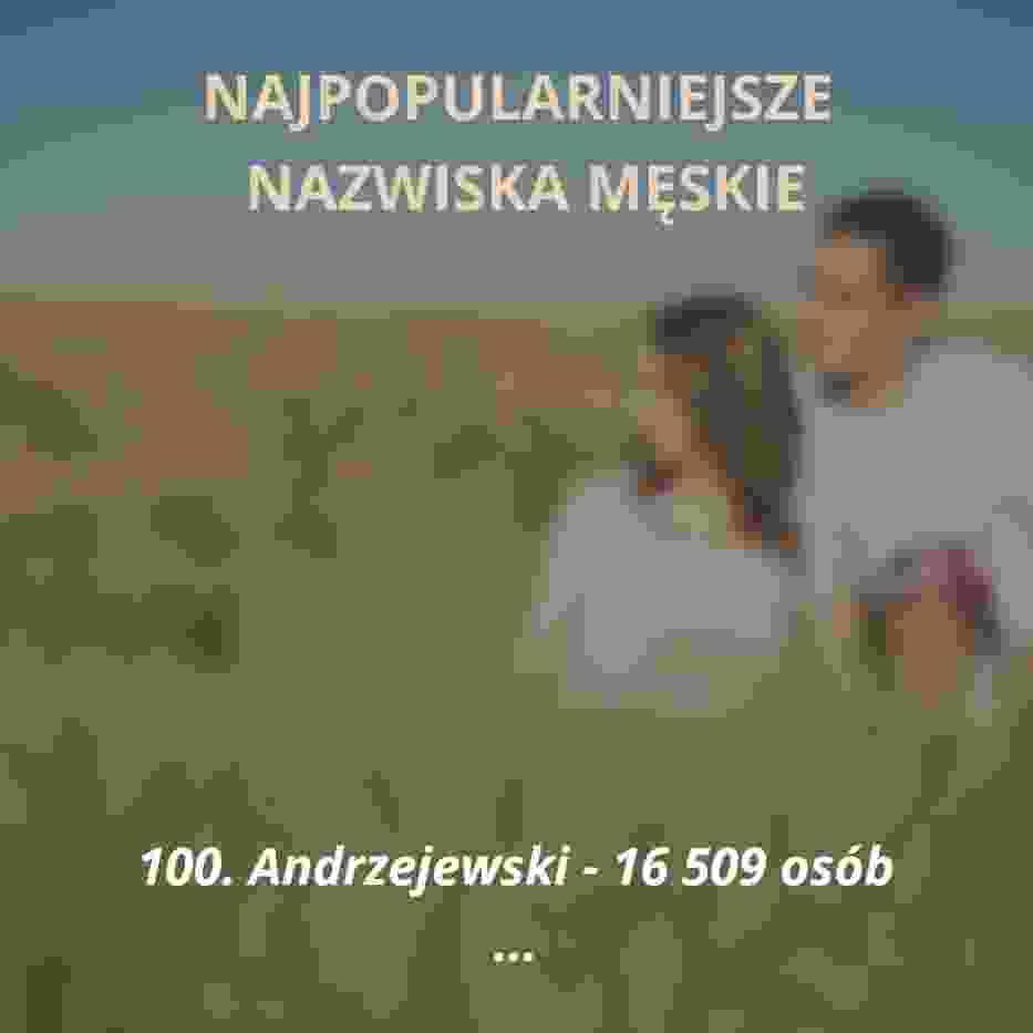 Oto sto najpopularniejszych nazwisk męskich w Polsce