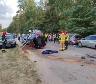 Sześć rozbitych samochodów! Kierowca był pijany? [ZDJĘCIA]