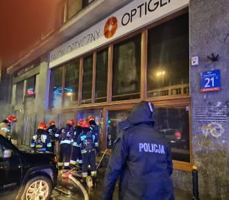 Pożar w centrum Warszawy. Spłonął salon optyczny