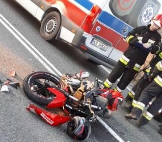 DK 94. Wypadek z motocyklistką w Gotkowicach