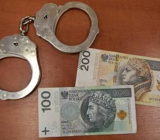 Policja zatrzymała śremianina podejrzanego o oszustwa, fałszerstwa i wyłudzenia