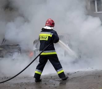 Pożar samochodu w Tczewie