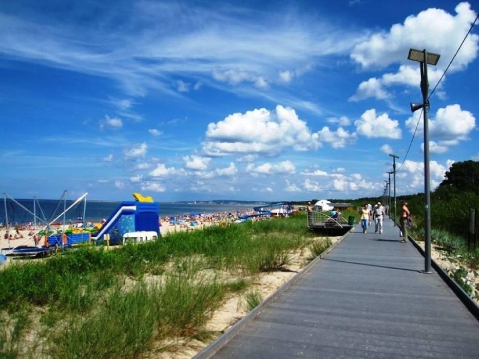 Droga spacerowa przy plaży