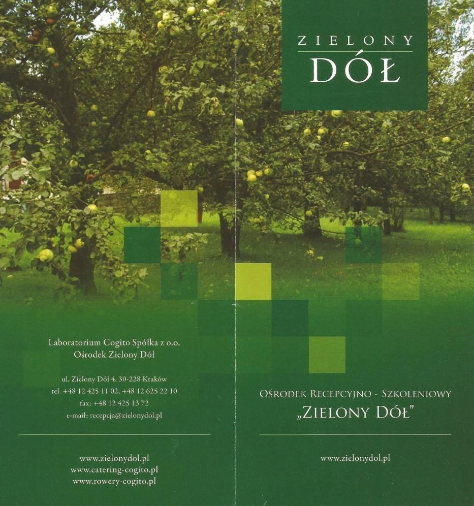 Okładka folderu wydanego przez Laboratorium Cogito
