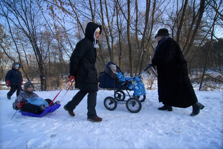 Spacery po Warszawie zimą