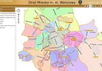 Warszawa mapa dzielnic