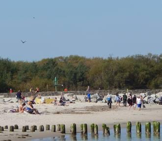 Typowo letnia pogoda zachęca do spacerów i plażowania w Ustce