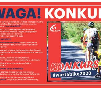 Cementownia Warta ogłasza rowerowy konkurs. Zobacz, co trzeba zrobić, żeby wziąć w nim udział