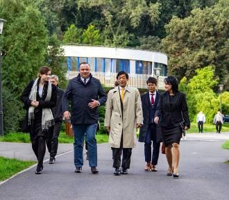 Ambasador Japonii odwiedził Park Śląski