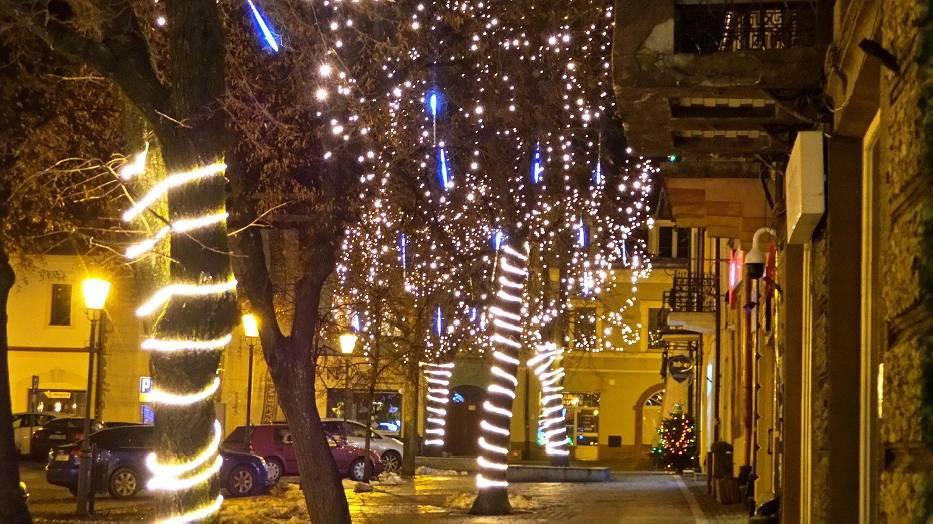 Tysiące lampek rozświetliło olkuski rynek