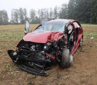 Wypadek na drodze Legnica - Koskowice, jedna osoba została ranna