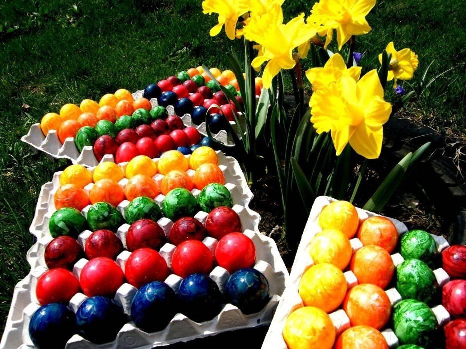 W tym roku kolorowe jajka przybyły z Niemiec od przyjaciół luteran z partnerskiego miasta Zetel