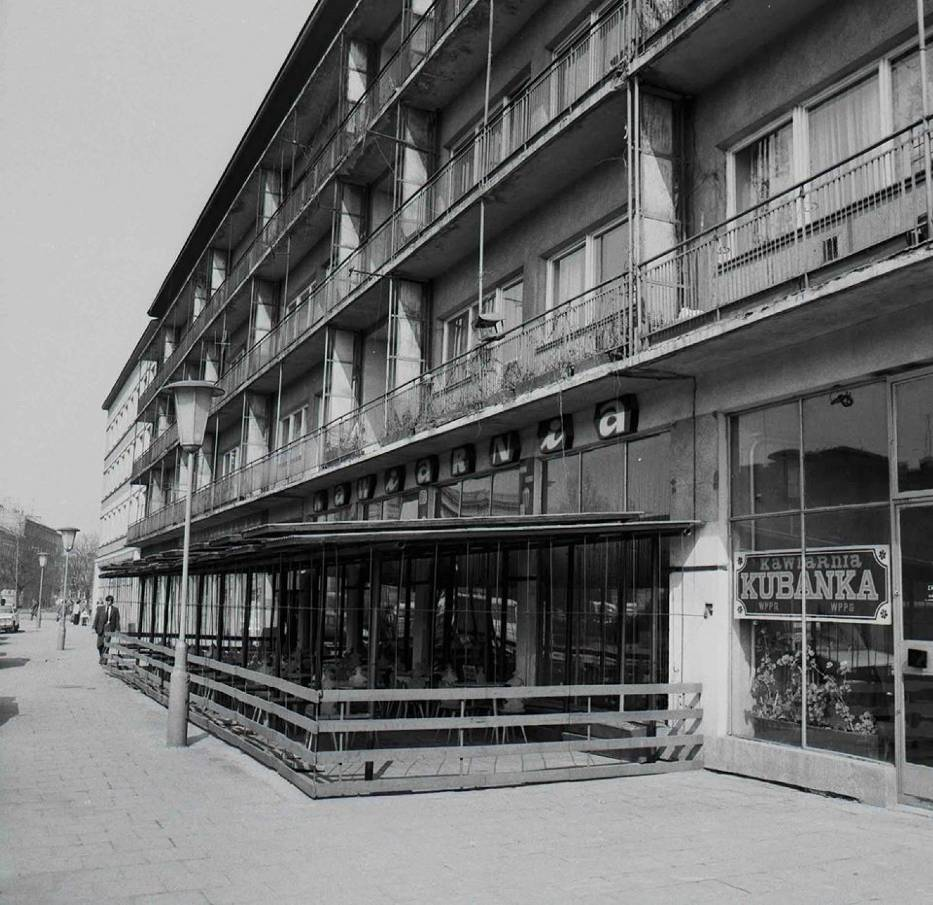 """Rzeszowska kawiarnia """"Kubanka"""" w latach 70"""