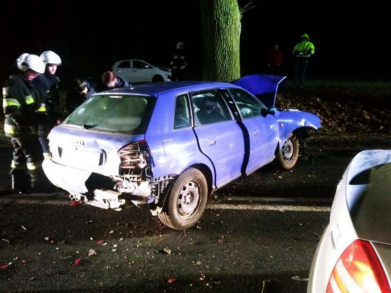 Wypadek koło Gorzowa. Zderzyły się trzy samochody. Ranne dwie kobiety [ZDJĘCIA]
