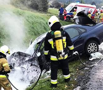 Groźny wypadek na DK 75 w Nowej Wsi [NOWE ZDJĘCIA]