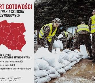 Przez niebezpieczną pogodę ogłoszono arelt dla żołnierzy WOT