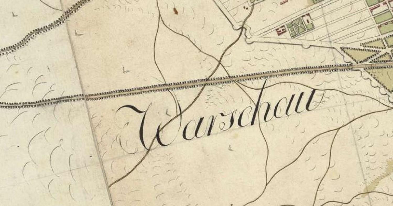 Warschau - centralny punkt mapy