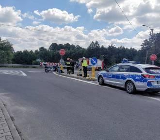 Wypadek w Mszanie. Audi zderzyło się z motocyklem. Jedna osoba ranna