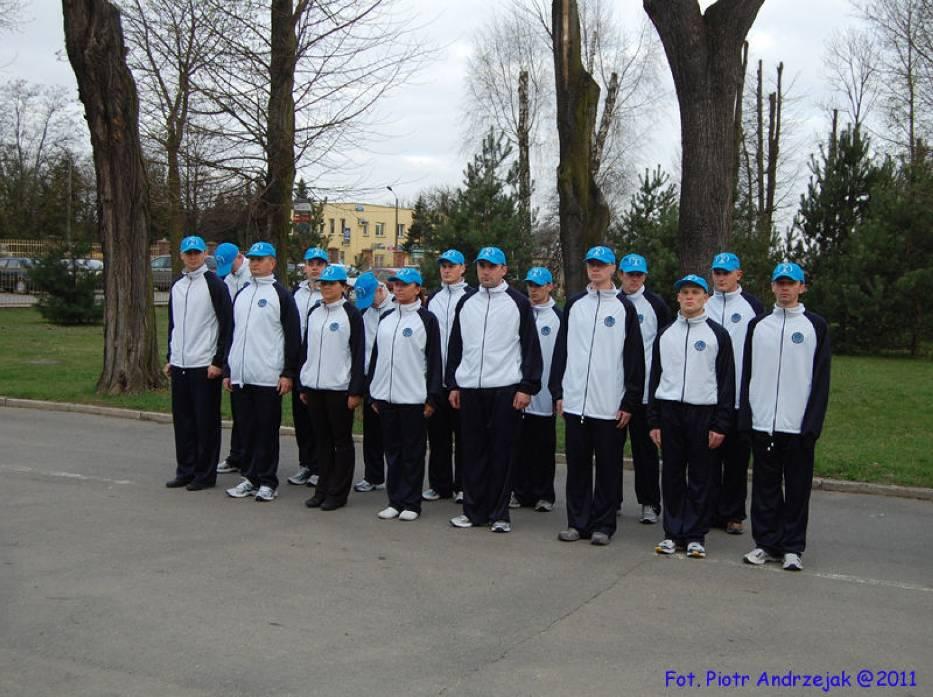 Uczestnicy sztafety smoleńskiej