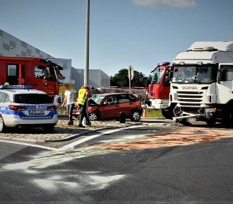 Swarożyn: wypadek na DK 22 - policjanci wyjaśniają okolicznści wypadku [ZDJĘCIA]
