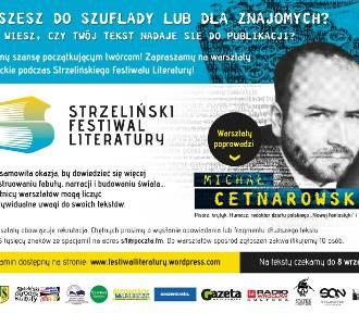 Warsztaty literackie z Michałem Cetnarowskim - wyślij opowiadanie do 8 września!