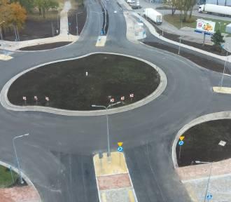 Rondo turbinowe w Inowrocławiu przed otwarciem. Zdjęcia z drona
