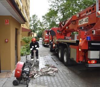 Tarnów. Pożar w mieszkaniu przy ulicy Lwowskiej [ZDJĘCIA, WIDEO]