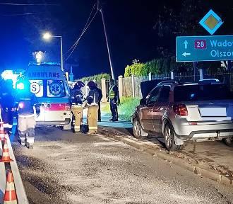 Wypadek pod Mszaną Dolną na DK 28. Dwa auta rozbite. Dwie osoby w szpitalu