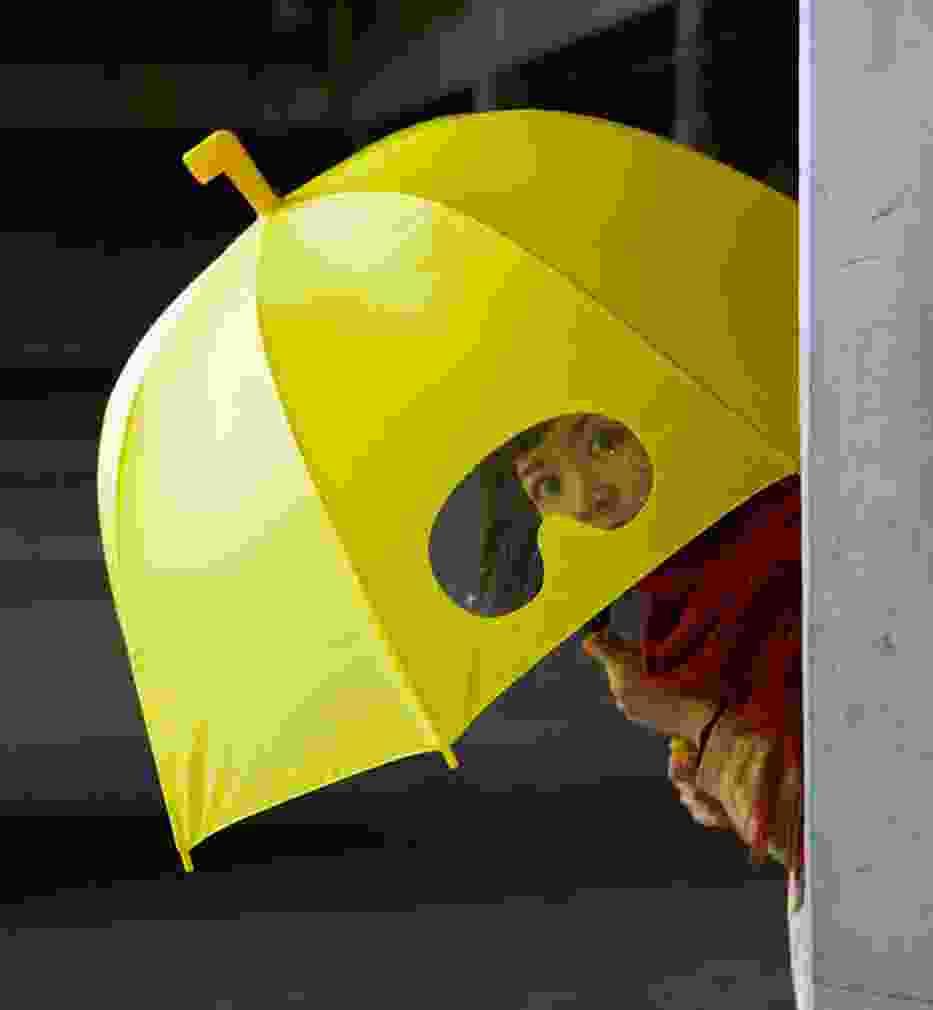 Nietypowe parasole: Parasol z goglami