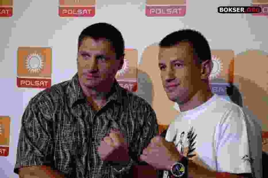 Od lewej: Andrzej Gołota i Tomasz Adamek