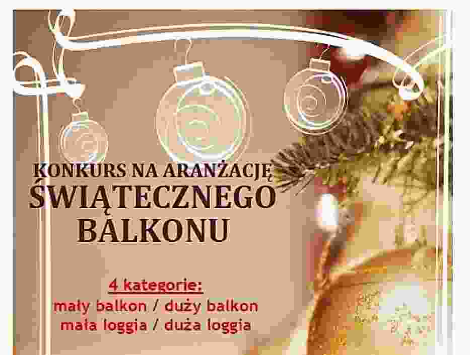Konkurs SM Piast na aranżację świątecznego balkonu