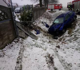 Powiat nowotomyski: Sypnęło śniegiem i wypadkami [ZDJĘCIA]