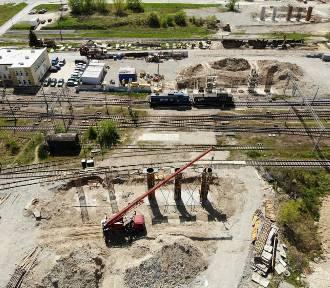 Przebudowa ul. Grygowej w Lublinie. Powstają nowe wiadukty drogowe [ZDJĘCIA I WIDEO Z DRONA]