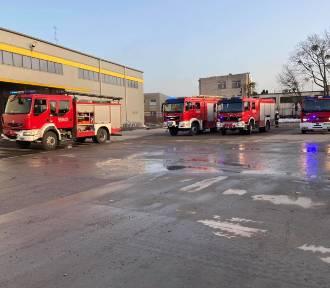 Pożar w hali magazynowej w Wejherowie