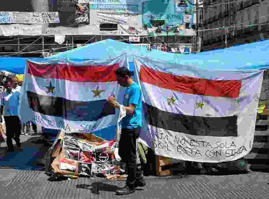 Syryjska opozycja wciąż protestuje na ulicach wielu miast (http://commons