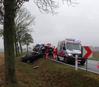 DROGÓWKA: Kierowca z Krotoszyna wpadł do rowu pod Pakosławskiem!