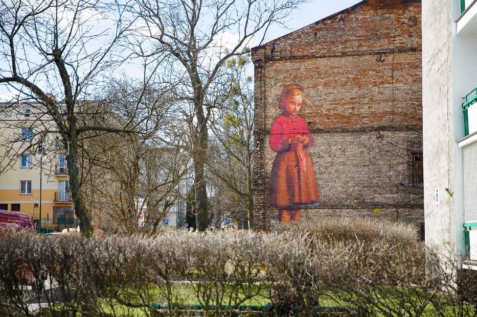 Nowy mural w bia ymstoku dziewczynka juliena de for Mural na tamie w solinie