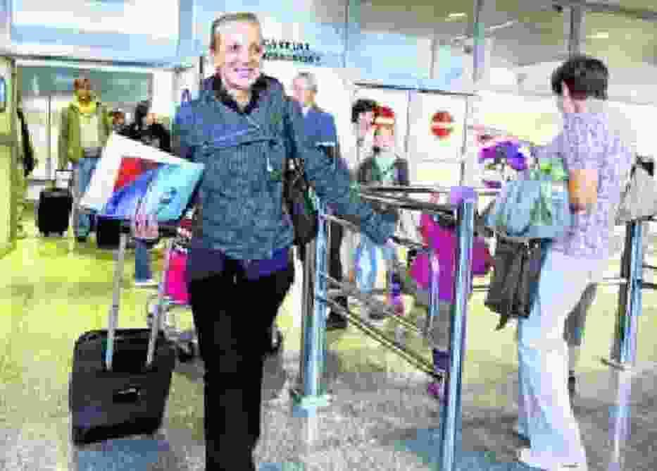 Julita Angler już na lotnisku Ławica