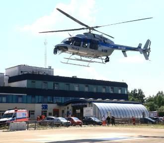 Ale akcja. Śmigłowiec policyjny lądował przy Borowskiej we Wrocławiu. Przywiózł serce