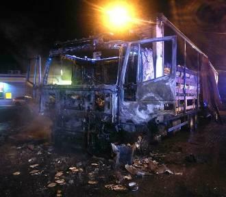 Pożar dwóch ciężarówek na MOP-ie przy A4 [ZDJĘCIA]