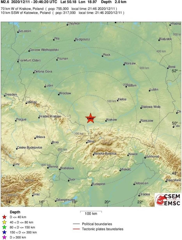 Wstrząs na Śląsku był bardzo silny