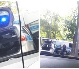 Obywatelskie zatrzymanie pijanego kierowcy na ulicy Ostrowskiej we Włocławku [zdjęcia]