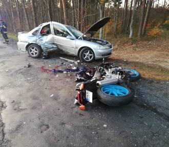 Śmiertelny wypadek motocyklisty pod Krotoszynem [ZDJĘCIA +18]