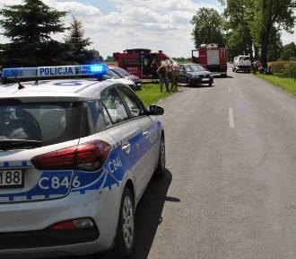 Wypadek w Dzierzążnie. Motocyklista trafił do szpitala