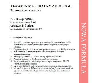 Matura z biologii na p. rozszerzonym. Arkusz CKE, odpowiedzi